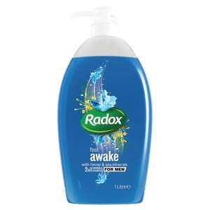 Radox 2 in 1 Mens Shower Gel 1 Litre was £3.00 now £1.50 @ Wilko