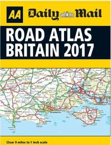 aa road atlas great britain a4 size 2017 edition inside daily mail saturday
