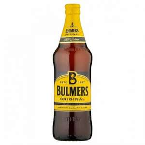 Bulmers £1 a bottle  (568ml) at the  Co-op