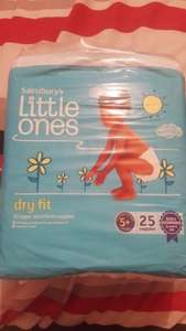 sainsburys size 5+ nappies for £1.25