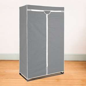 metal frame CANVAS WARDROBE DOUBLE at Pounstretcher for £12.99