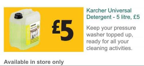 karcher detergent 5 litres £5.00 Morrisons