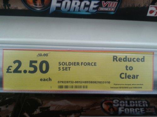 Soldier Force 5 Figure Set £2.50 @ Tesco Instore