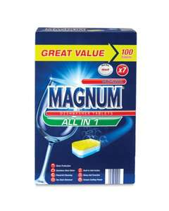 Aldi Magnum diswasher Tablets - Box of 100 - £7.79 instore