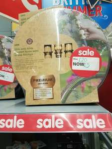 30m hose reel brass fittings at Asda for £5