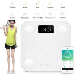 YUNMAI Mini 1501 Bluetooth 4.0 Smart Fat Scales INTERNATIONAL VERSION WHITE Intelligent Accurate Analysis APP Control Digital Weighing Tool Support BMI / Weight / Body Fat / Water / Bone Density £23.90 Email Only Price @ EU Warehouse Gearbest