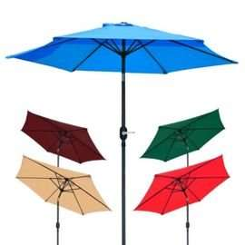 Henley Green/Blue Garden Tilt Parasols £32.99 @ Tesco direct