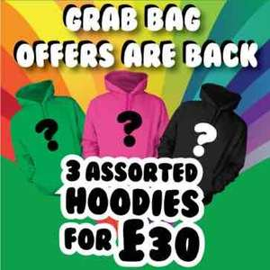 grab bag 3 hoodies for £27 @ Chicks rule