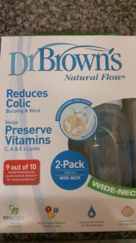 Dr Brown wide neck bottles x2 £7.99 @ Home Bargains