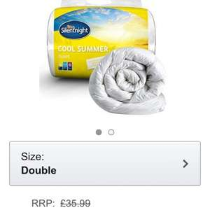 Silentnight Cooler Summer Duvet Single  £10.00  (Prime) / £14.75 non Prime) @ Amazon
