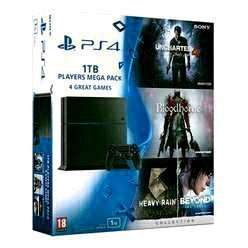 PS4 1TB Players Mega Pack - with 5 games inc: Uncharted 4 and Ratchet & Clank and Now TV 2 Month Movies Pass- £329.99 + Del @ Game