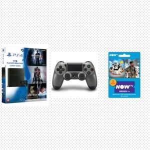 Playstation 4 1TB Mega Players Pack with 4 Games Inc: Uncharted 4 and Free Steel Black DualShock 4 Controller & Now TV 2 Months Movies pass - Only at GAME £329.99 @ Game
