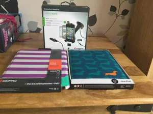 Griffin window seat hands free drive safe and iPad journal  cases £1 at poundland
