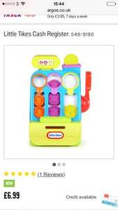 Little tikes cash register £6.99 @ Argos