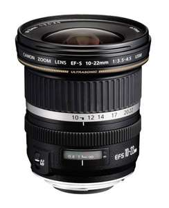 Canon Wide Angle APS-C 10-22mm Lens with USM. f/3.5-4.5 £375 Currys ( £332 with cashback)