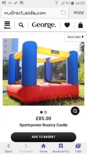 sportspower bouncy castle £21.25 @ Asda