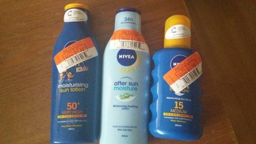 Nivea Sun Cream & Aftersun -  £1.29 Co-op