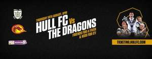 Hull FC v Catalans Dragons: Kids For £1 and Friends For £5