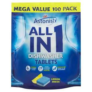 Astonish All in 1 Dishwasher Tablets Lemon Fresh 100 x 20g (2kg) ONLY £4.00 - Iceland