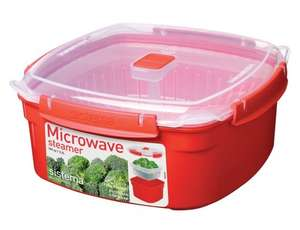 Large 32litre square Sistema microwave steamerHalf price now
