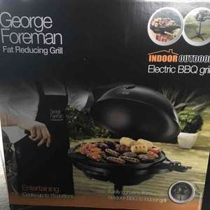 George Foreman Electric BBQ Grill half price instore at Sainsbury's £45