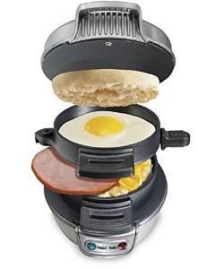 Hamilton Beach Electric Breakfast Sandwich Maker - Silver.  £15.99 (Prime) / £20.74 (non Prime) @ Amazon