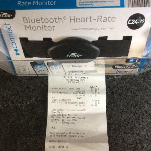 Crane Bluetooth Heart Monitor £3.75 Aldi