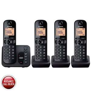 Panasonic KX-TGC224EB Quad Pack DECT Cordless Telephone £44.89 Delivered.