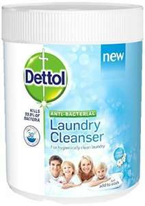 Dettol Antibacterial Laundry Cleanser Powder 990 g - Fresh Cotton, Pack of 3  £8.07 with Subscribe & Save @ Amazon