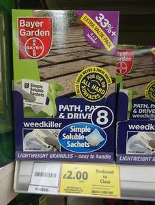 Bayer Garden Path Patio and Drive Weedkiller 8 sachets - Tesco extra Cheshunt - £2