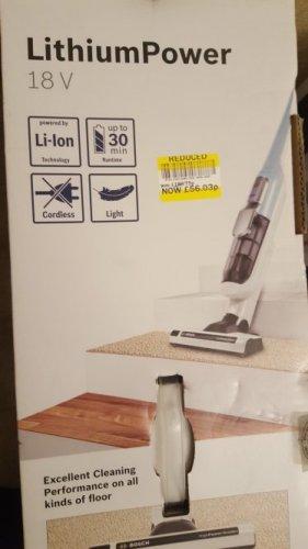 Massive 70% Bosch appliances clearance at Tesco Gallion Reach eg Bosch vacuum cleaner for £56.03