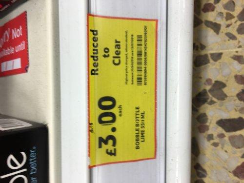 Bobble 550ml lime water bottle £3 @ Tesco