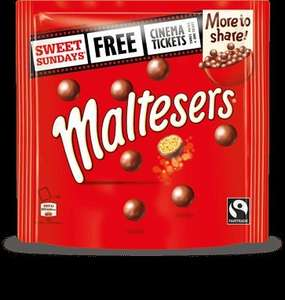 SHOWCASE CINEMA Sunday for around £4.50 a person if collected points of M&m, Revels, Maltesers, Minstrels on Special Offer SWEET SUNDAYS
