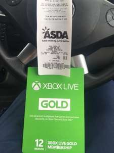 Xbox live 12 months £10 instore @ Asda
