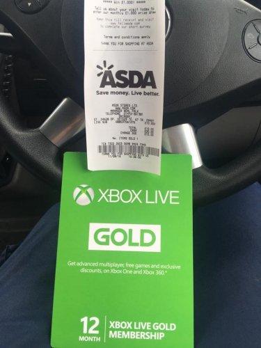 Xbox live 12 months £10 instore @ Asda
