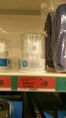 HP s6000 wireless Bluetooth speaker built in battery £9 Sainsburys