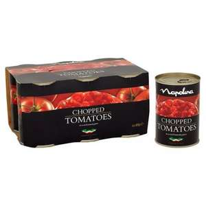 NAPOLINA CHOPPED TOMATOES 6 PACK £2.50, SAVE £2 @ TESCO