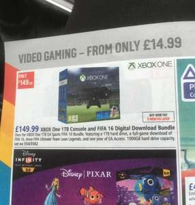 Xbox one 1tb, Fifa 16, 1yr ea access brand new £149.99 at Argos (look for branded bundle)