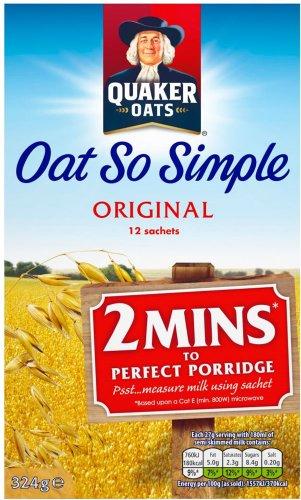 Quaker Oat So Simple Original Porridge (12 x 27g) was £2.58 now 2 boxes for £3.50 @ Iceland