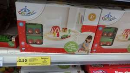 25 piece wooden carousel train set £2.50 Tesco in store