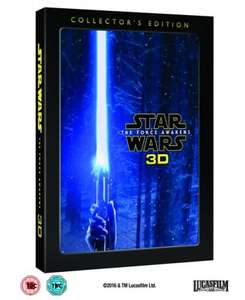 Star Wars: The Force Awakens Collector's Edition [3D Blu-Ray] £19.99 prime / £21.98 non prime @ Amazon