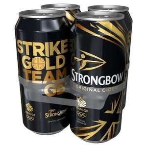 Strongbow Original Cider, 4 x 500ml Cans = £1.06/l £2.12 @ Amazon (Prime Exclusive)