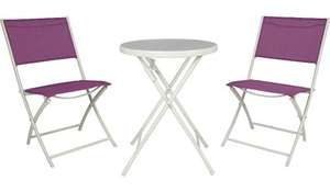 Miami 3 Piece Balcony & Bistro Set in Pink or Purple was £41.95 now £21.95 Del @ Asda George (also others inc Miami 6 Piece Patio Set in Purple was £88.95 now £48.95 Del)