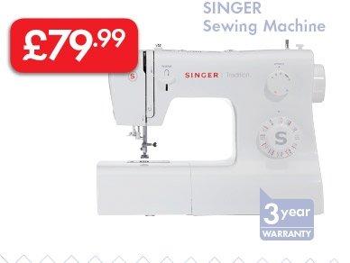 SINGER Sewing Machine £79.99 @ LIDL
