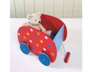 George Home Wooden Pull Along Toy Box (was £15) Now £7.50 at Asda Goerge