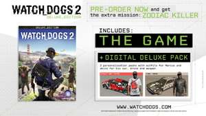 Watch Dogs 2 Deluxe Edition PC £31.99 @ GreenManGaming