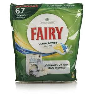 Fairy Ultra Power All in 1 Dishwasher Tablets Lemon (67 Tablets) ONLY £8.00 @ Wilko