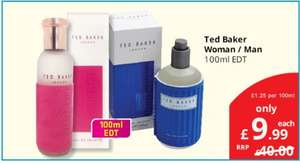 Ted Baker women / men 100ml EDT @Savers for only £9.99
