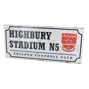 ARSENAL RETRO STREET SIGN: 97p