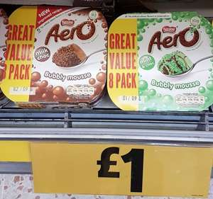Aero (mint or chocolate) / Milkybar Bubbly mousse 8 Pack £1 @ Morrisons